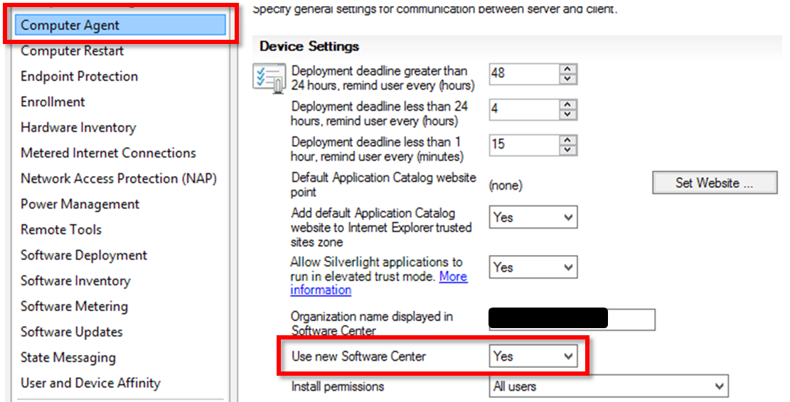 Enable New Software Center in ConfigMgr 1511 | Microsoft