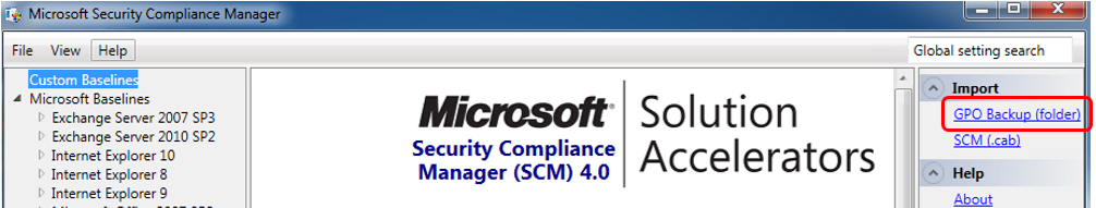 Microsoft Security Compliance Manager (SCM) | Microsoft